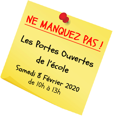 Post it 2020 Portes ouvertes